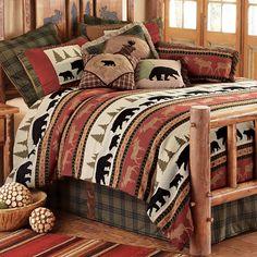 Woodland Trails Bear Bed Set - Queen