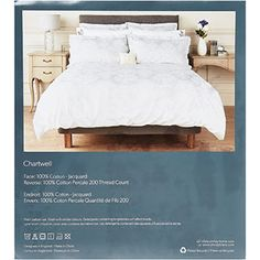 Double Light Grey Jacquard Duvet Cover