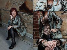 Coat, blouse, earrings, necklace, and bracelets from Twigs. http;//www.twigs.ca Twigs Lookbook
