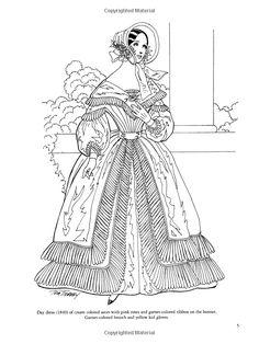 Victorian Fashions Coloring Book (Dover Fashion Coloring Book): Tom Tierney: 0800759299171: Amazon.com: Books