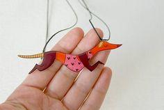 Greyhound dog necklace Illustrated animal jewelry necklace