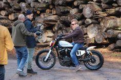 Kimi Raikkonen | Wrangler photoshoot 2014 with Harley-Heaven #Kimi #Raikkonen #iceman #Wrangler 01 (February 2014.)