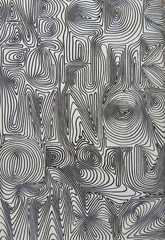 "pinterest.com/fra411 #typographic - David Kindersley, U.K., from 1969 from ""Variations on the theme of twenty-six letters"""