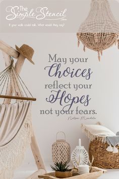 Inspirational Wall Decal Art | Nelson Mandela Wall Decal Reads: May your choices reflect your hopes not your fears. Add this easy to install wall decal to your home, school or office walls to encourage less fear and more hope. Many sizes available. Customize online in up to two colors to match your decor perfectly. If your walls could talk, what would they say? Highest Quality, Made in the USA, Satisfaction Guaranteed. #mandela #walldecor #hope #fear #hopeoverfear #nelsonmandela #inspiring Inspirational Wall Quotes, Motivational Quotes, Apartment Living, Living Room, Family Room Walls, Monogram Wall, Apartments Decorating, Modern Coastal, Office Walls