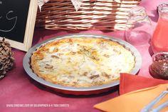 finde cocinillas - quiche de queso, pera y nueces