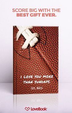 The perfect gift for the football fan in your life! Tug on his heartstrings with Lovebook, and create a story entirely unique to you. Your perfect birthday, anniversary, or holiday gift awaits at lovebookonline.com