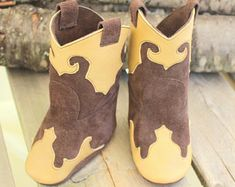 Quality leather accessories for all ages. by GypsyPlaid on Etsy Cowboy Baby, Newborn Cowboy, Western Babies, Christmas Baby Shower, Leather Moccasins, Baby Boots, Newborn Baby Gifts, Spring Shoes, Cute Babies