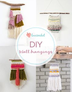 Pinteresting Projects: Wall weavings: free tutorials, tips, and more at LoveCrochet