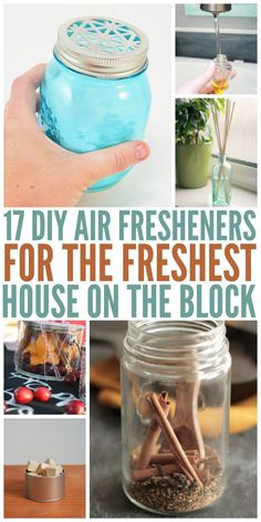 17 DIY Air Fresheners for the Freshest House on the Block Wanting to freshen your home without all the crazy chemicals? Here are some great DIY air fresheners that will make you home smell amazing! Half the cost and no harmful chemicals! Deep Cleaning Tips, House Cleaning Tips, Cleaning Hacks, Diy Hacks, Diy Home Cleaning, Natural Cleaning Recipes, Toilet Cleaning, Organizing Tips, Organization Hacks