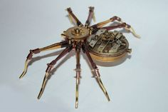 Tom Hardwidge's Steampunk Sculptures - How cool would it be if this spider could walk!