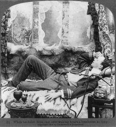 When bachelor dens cast over waking hours a loneliness so deep, c. 1904