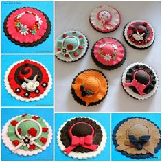 Girly Cupcake Hat Toppers - For all your cake decorating supplies, please visit craftcompany.co.uk