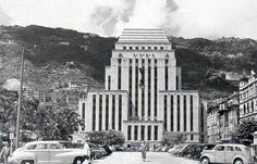 Postcards from Hong Kong, Shanghai and Luzon - the HSBC Bank premises in 1935