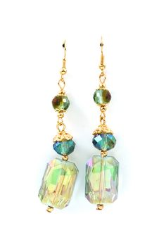 Vitrail Kira Earrings in Mint to Teal