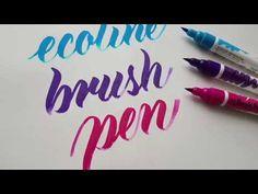 Royal Talens Ecoline Brush Pen - YouTube