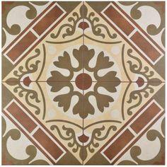 Merola Tile Evasion Rojo 17-5/8 in. x 17-5/8 in. Ceramic Floor and Wall Tile (11.1 sq. ft. / case)-FPEEVARJ - The Home Depot
