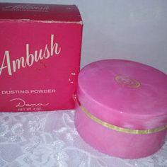 Rare Vintage Avon Ambush Perfumed Dusting Powder