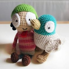 Sarah and Duck amigurumi crochet pattern by Ham and Eggs / Heather Jarmusz
