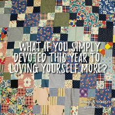 Be yourself. Accept yourself. Value yourself. Forgive yourself. Bless yourself. Express Yourself. Trust yourself. Love your self! Vintage double four patch quilt top found in Arizona. . . #quilt #quilting #patchwork #quiltville #bonniekhunter #vintagequilt #antiquequilt #deepthoughts #wisewords #wordsofwisdom #quiltvillequote #quote #inspiration #scrapquilt #4patch