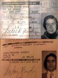 1st Avenue, Driver's License, Ted Bundy, Salt Lake City Utah, Serial Killers, True Crime, Old Pictures, Bae, Teddy Bear