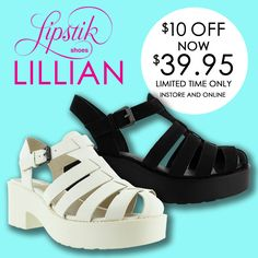 LIPSTIK LILLIAN $10 off now $39.95. Limited time only. Instore and Online.