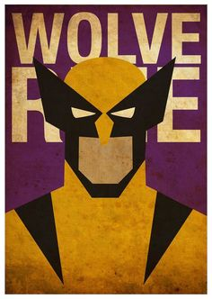 Vintage Minimalist Wolverine Poster A3 Prints by MyGeekPosters