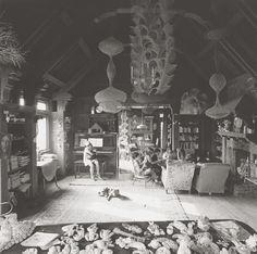 Ruth Asawa's Living Room, San Francisco, 1969.
