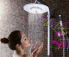 Showerhead with speaker
