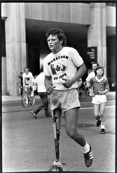 his story has been told in books and television movies - the award winning Terry Fox Story - and Terry - and the documentary . Canadian Things, I Am Canadian, Canadian History, Facts About Canada, Good People, Amazing People, Photo Software, O Canada