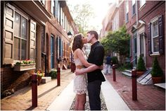 Take your engagement photos in some of those special Philly spots that are near and dear to your heart. (Photo by Girl Photography)