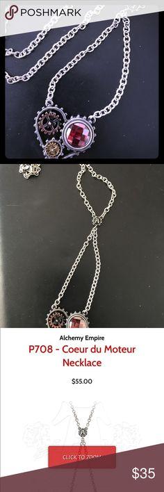 "Alchemy Coeur Du Morteur Necklace Brand new w/tags Alchemy Couer Du Morteur necklace. Steampunk style, made in England. 18"" chain, pewter with Swarovski crystal alchemy Jewelry Necklaces"