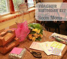 The Blackberry Vine: Teacher Birthday Kit for Room Moms