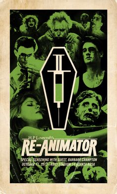 Re-Animator Character Coffin Poster