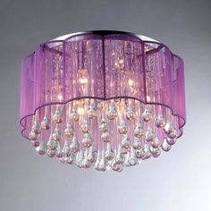 Erida 6-Light Chrome Ceiling Lamp | Overstock.com Shopping - Great Deals on Warehouse of Tiffany Chandeliers & Pendants