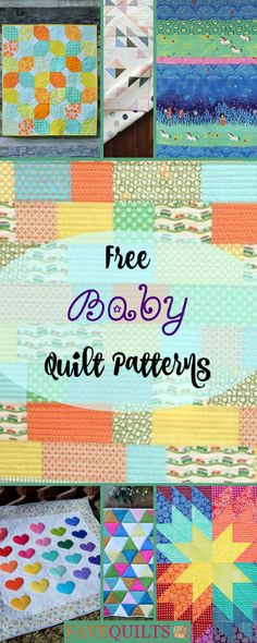 Make the cutest baby quilts with these amazing free patterns.