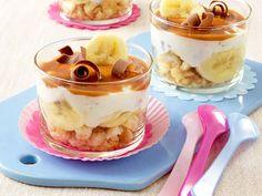 Dit moet je proeven... Kwark met banaan en chocolade krullen.