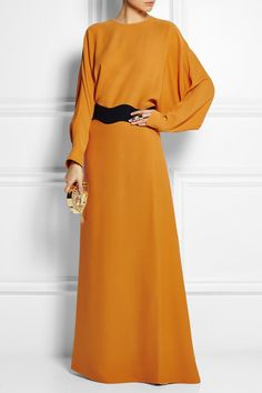 Agnona Silk Patio Gown / Perfect for Fall Celebrations