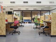 konstantin grcic's OSB hack table for vitra created for office environments