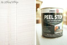 Non-yellowing sealer made to use on top of white or chipping paint