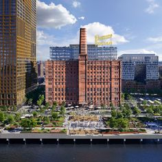 The site of the former Domino Sugar Factory on the Brooklyn waterfront will open as a public park in 2018, as part of a major redevelopment project.