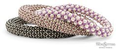 Chenille Stitch Bangles  Demi Round™ from TOHO BEADS Free PDF ~ Seed Bead Tutorials