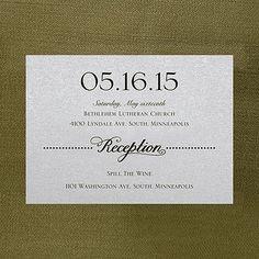 Sheer Expression Reception Card - Silver Shimmer weddingneeds.carlsoncraft.com