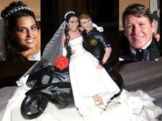 bonecos de casamento para bolo motoqueiros - Pesquisa Google