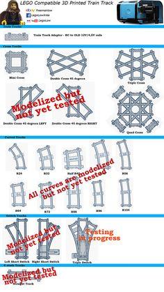 x16 LEGO Train Track Flexible Lego track sections Flex lego tracks