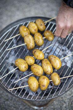 Geroosterde krielaardappelen Potatoes, Fruit, Vegetables, Sauce, Food, Drinks, Party, Honey, Mustard