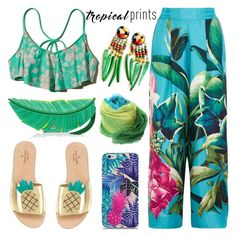 """""""Hot Tropics"""" by barbarela11 ❤ liked on Polyvore featuring Hollister Co., F.R.S. For Restless Sleepers, Kate Spade and Yigal AzrouÃ«l"""