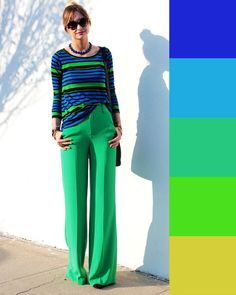 50 How To Wear To Update You Wardrobe - Women Fashion Trends Colour Combinations Fashion, Color Combinations For Clothes, Color Blocking Outfits, Fashion Colours, Colorful Fashion, Color Combos, Fashion Mode, I Love Fashion, Modest Fashion