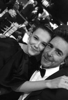 Millie Bobby Brown with director, Shawn Levy