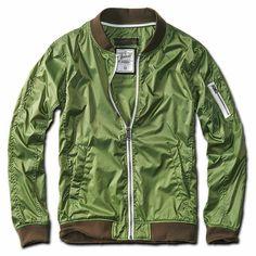 Brandit 3140.27 Mens Classic Sport Light Zipped Summer Portland Jacket  Green  fashion  clothing   58235cf757792
