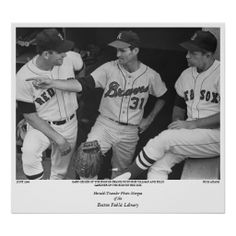 Gary Geiger of the Boston Braves with Bob Tillman  Poster